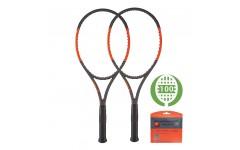 Комплект из 2-х теннисных ракеток Wilson Burn 100 LS CV 2017
